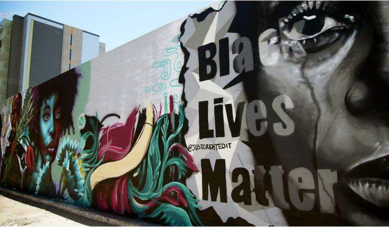 Actus artistiques-Des Graffitis pour supporter Black Lives Matter